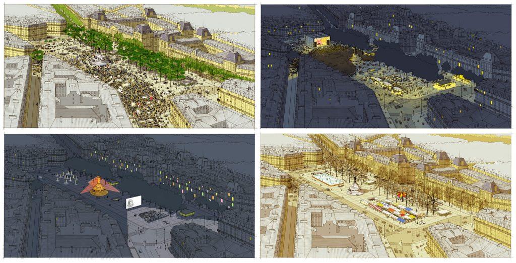 Concours pour l'aménagement de la place de la République à Paris - TVK architectes - 2009