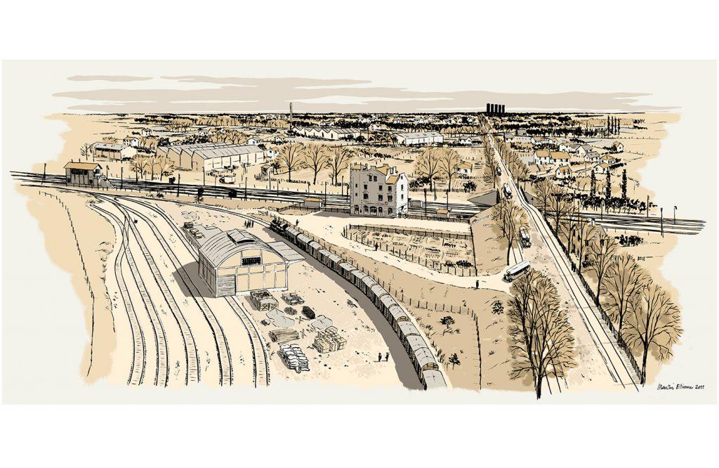 Reconstitution historique de l'ancienne gare de déportation de Bobigny - Ville de Bobigny / LM Communiquer - 2011
