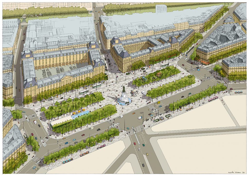 Aménagement de la place de la République à Paris - TVK architectes - 2011