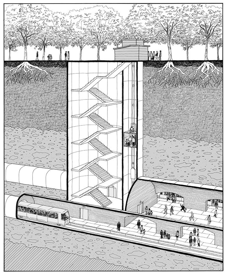 Restructuration de la station de métro Capitole à Toulouse - LM communiquer - 2011