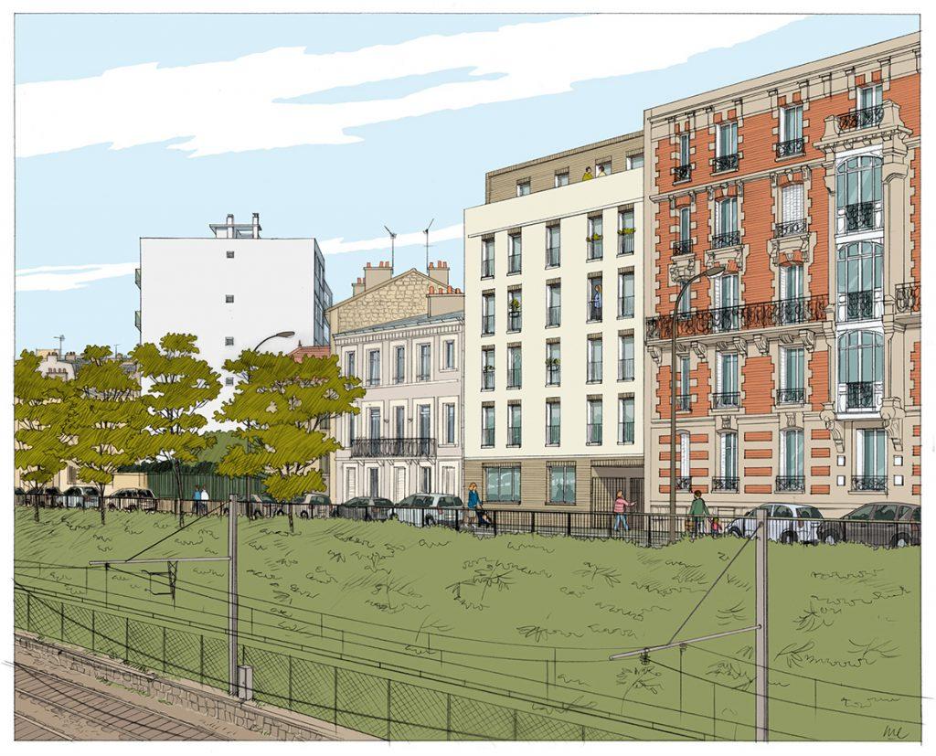 Immeuble de logements à Vincennes - NXNW architectes - 2011