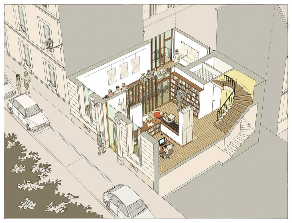 Concours pour la restructuration des locaux du CAUE14 - Atelier J. Etienne & Y. Frechon architectes - 2012