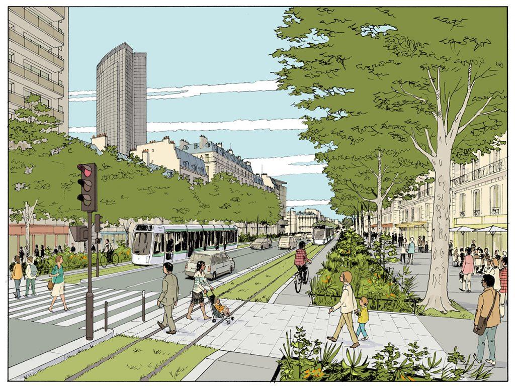 """Proposition de création du """"tramway des gares"""" à Paris - Bernard Jomier EELV - 2013"""