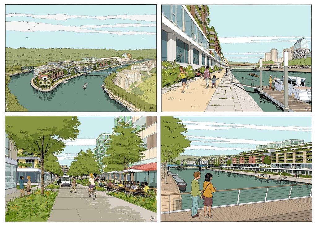 Proposition d'aménagement urbain sur l'Ile Seguin - Atelier François Grether - 2013
