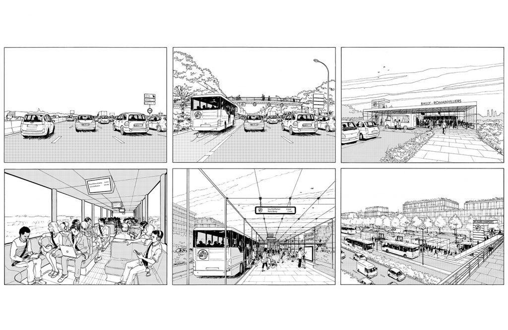Etude pour l'aménagement de l'autoroute A4 - François Leclercq architectes urbanistes - 2014