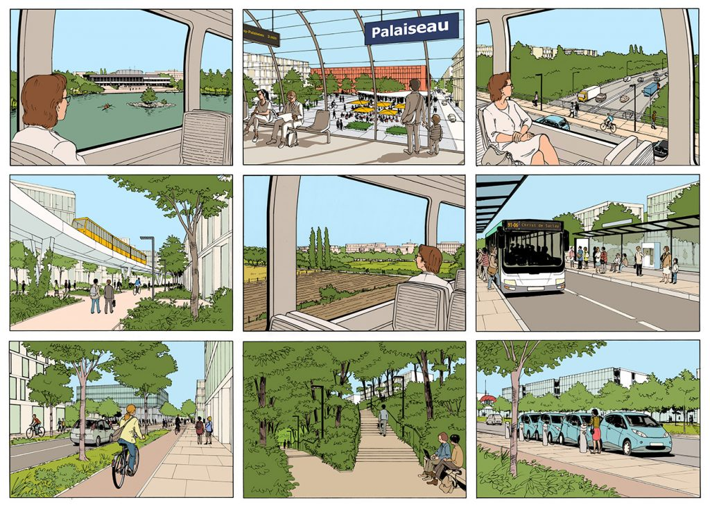 Diversité des modes de transport sur le plateau de Saclay - Etablissement Public de Paris-Saclay - 2014