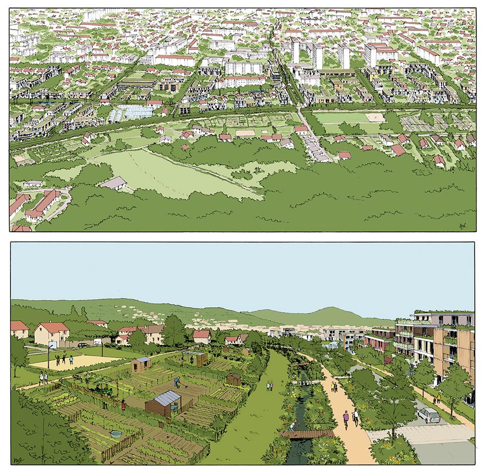 Etude urbaine pour le quartier des Vaîtes à Besançon - Atelier François Grether - 2014