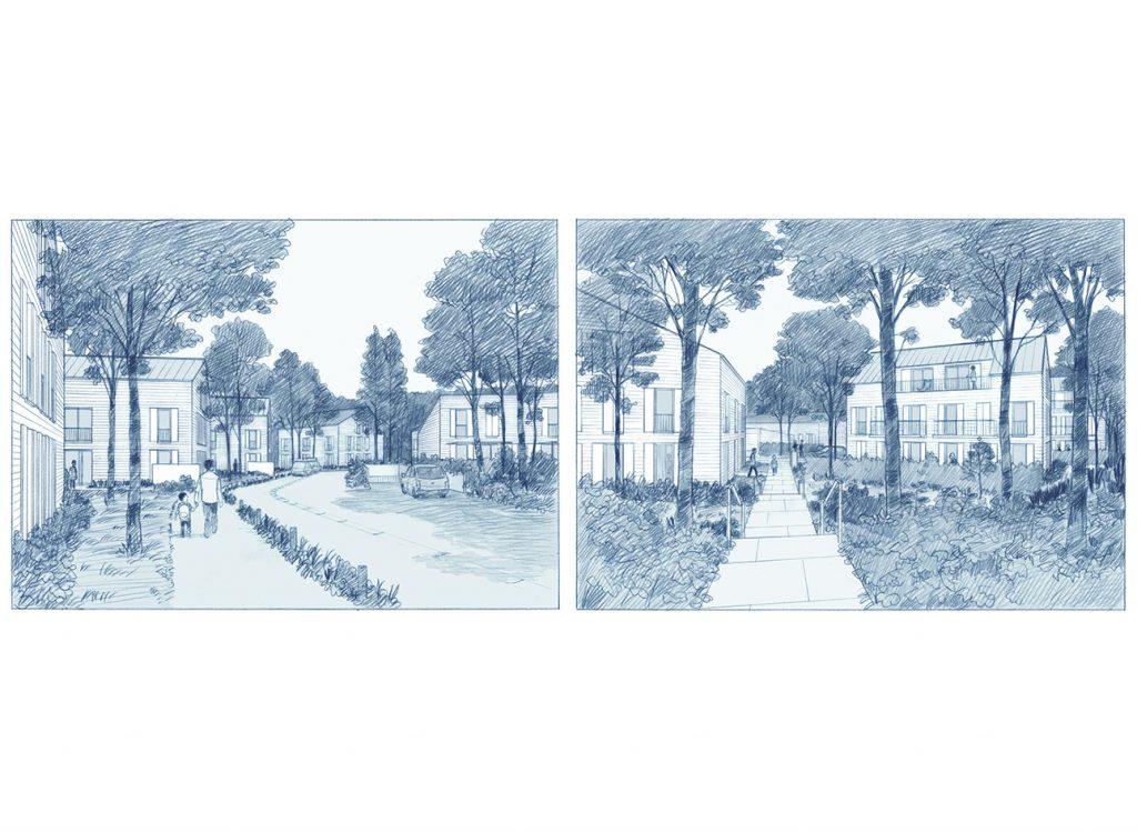 Concours pour un projet de logements à L'Isle-Adam - Gelin Lafon architectes - 2015