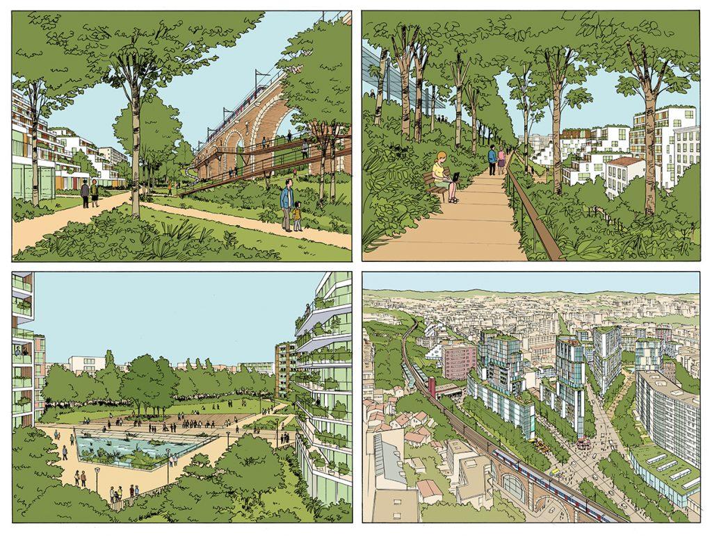 Concours pour un projet urbain à Issy-les-Moulineaux - Agence Devillers & associés - 2015