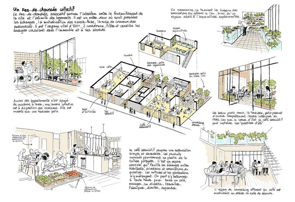 """Concours """"Réinventer Paris"""", site Buzenval - NXNW architectes - 2015"""