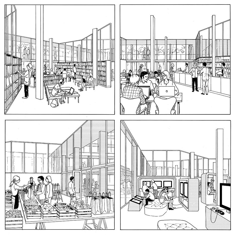Concours pour un bâtiment de logements étudiants à Paris-Saclay - Atelier Canal - 2015