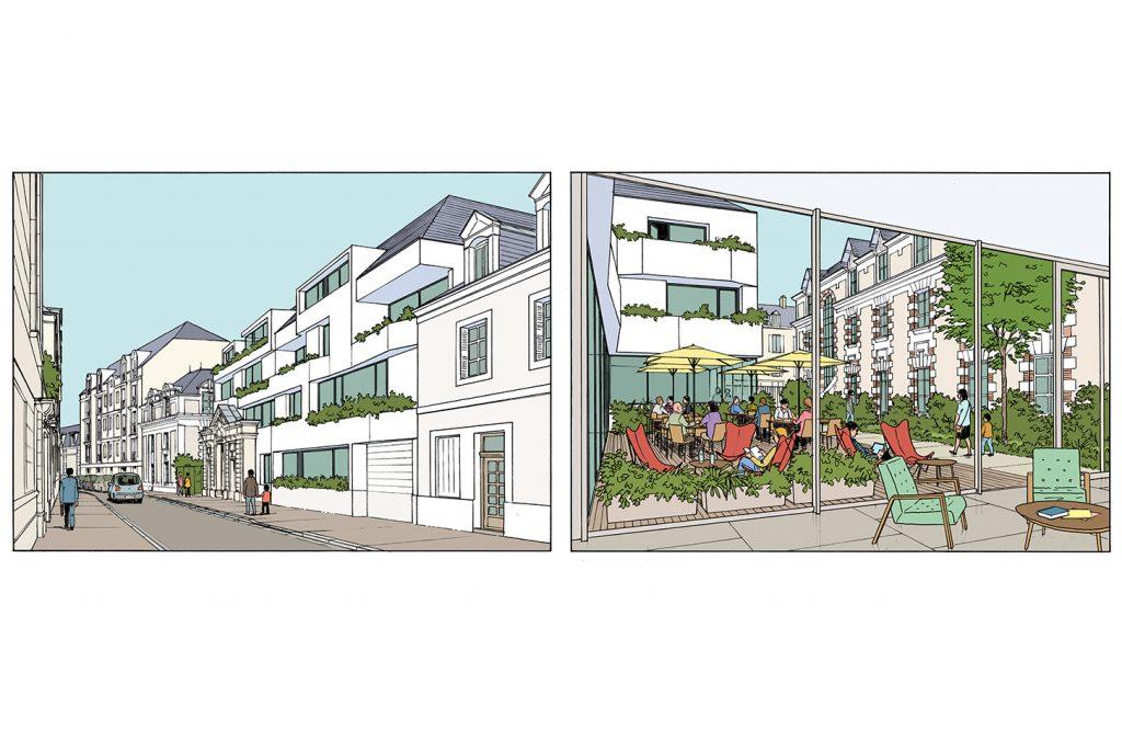 Concours pour un immeuble de logements à Angers - Catherine Dormoy architecte - 2016