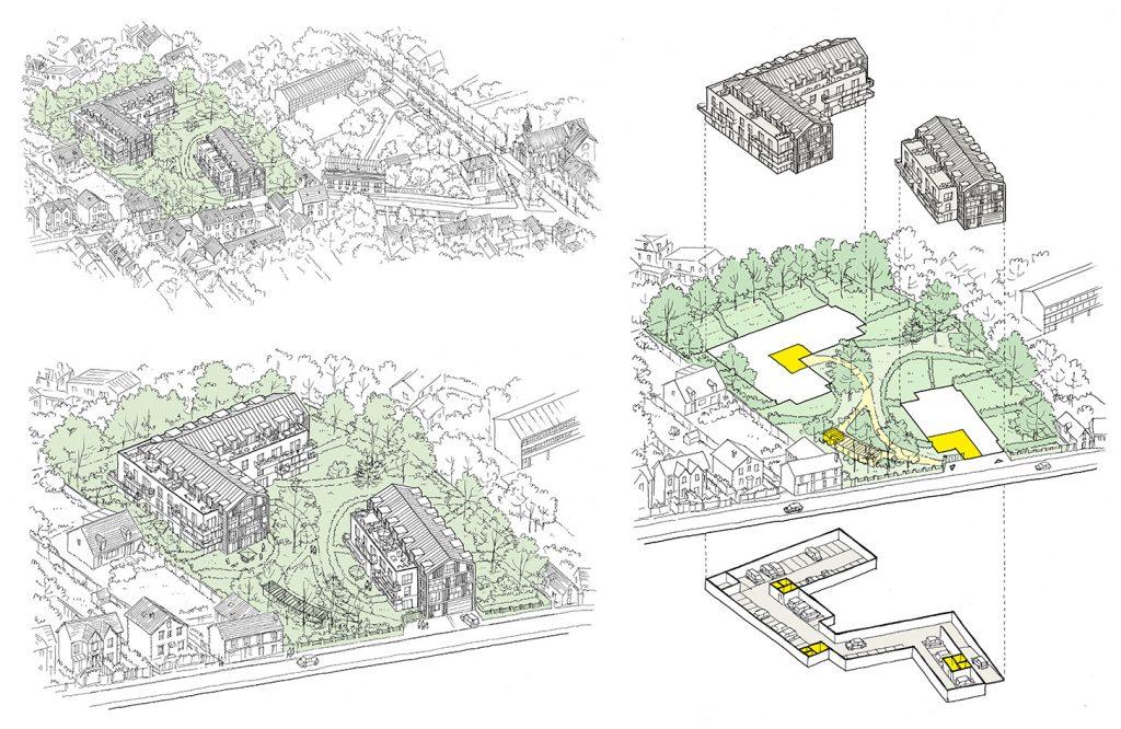 Concours pour une opération logements à Evry - Haour architecture - 2016