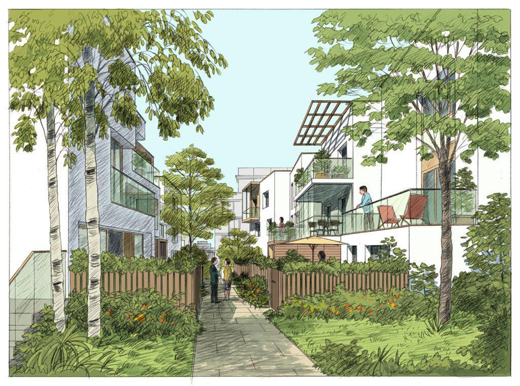 Concours pour un projet urbain à Noisiel - Agence Devillers & associés / SATHY architecture - 2016
