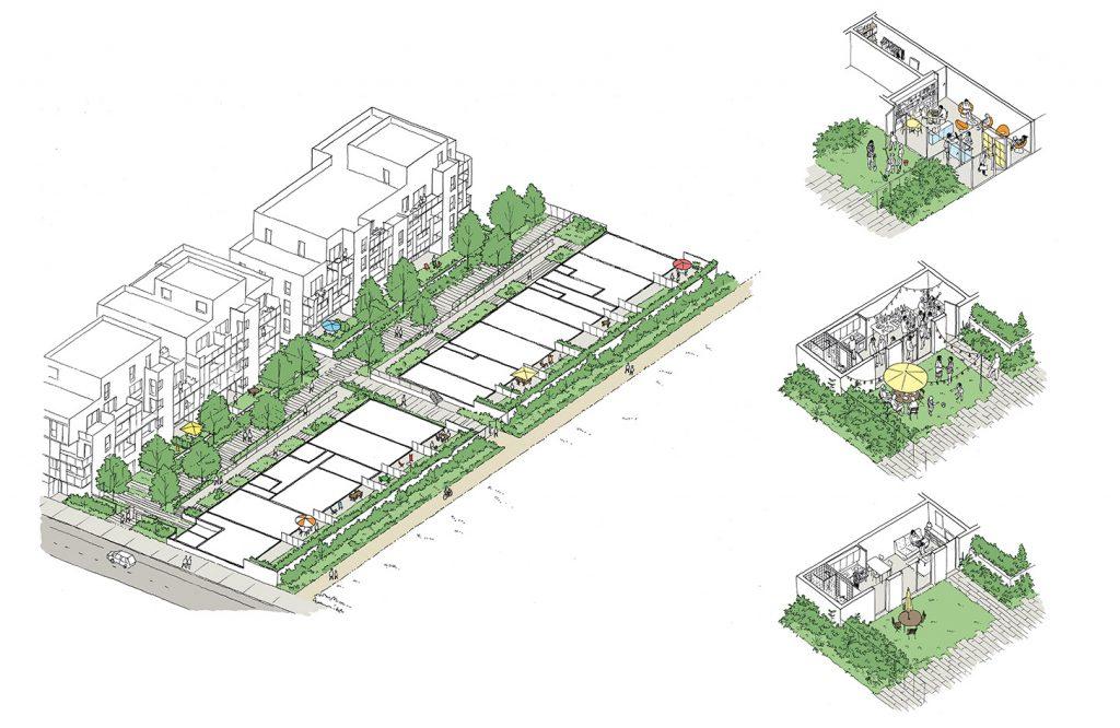 Concours pour un projet de logements à Villeurbanne - Rue Royale architectes / Siz'ix architectes - 2016