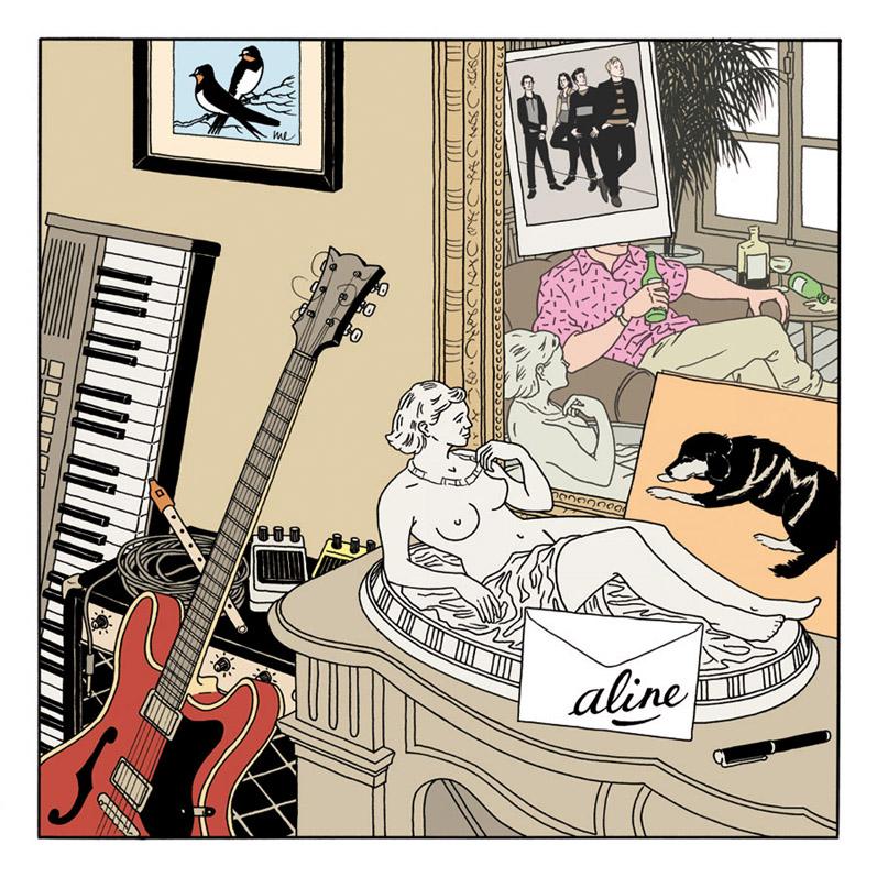 Pochette du EP 4 titres du groupe Aline, sortie mai 2012